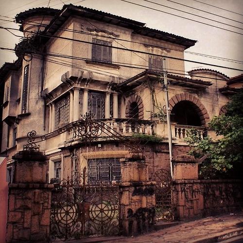 Old mansion at Scuvero Street, Sao Paulo - Brazil