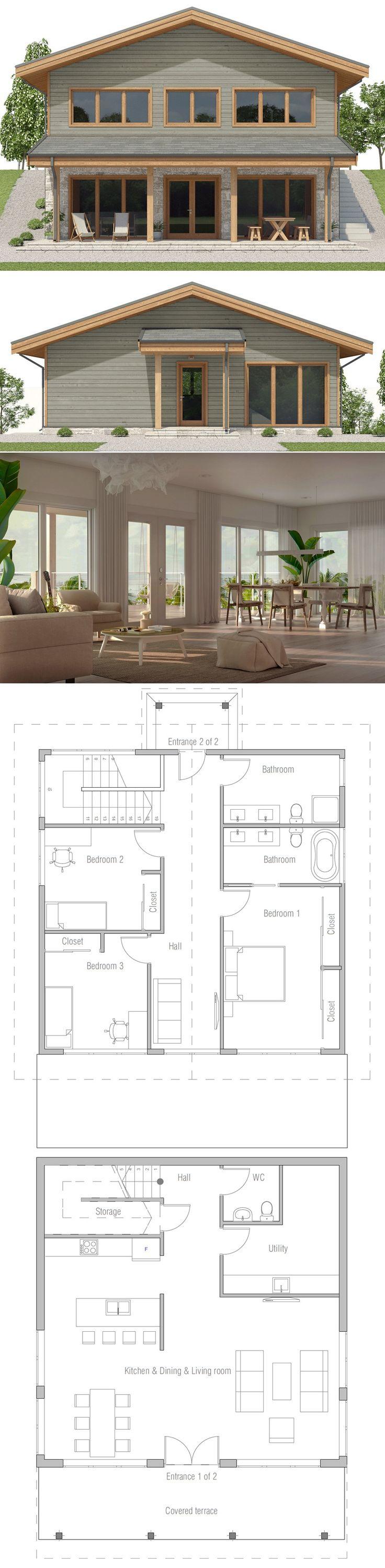 Sloping lot house plan