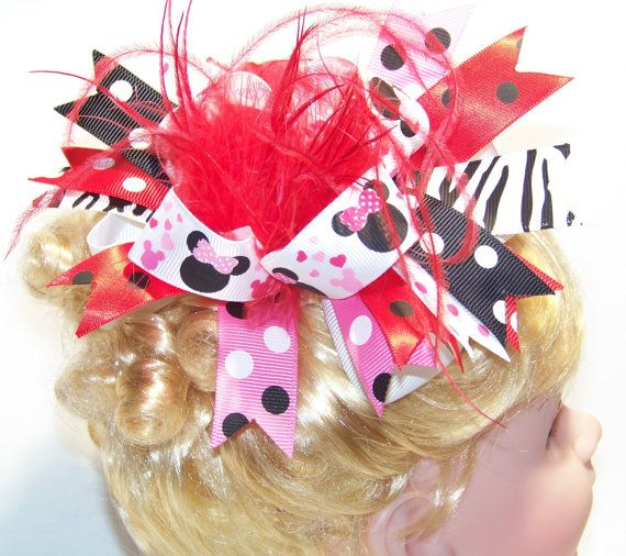 Over the Top Hair Bow / Disney / Feather Bow / by KarriesBoutique, $9.95