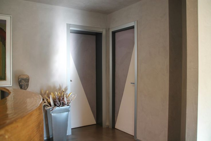 Paneled Doors with  white leather and suede leather