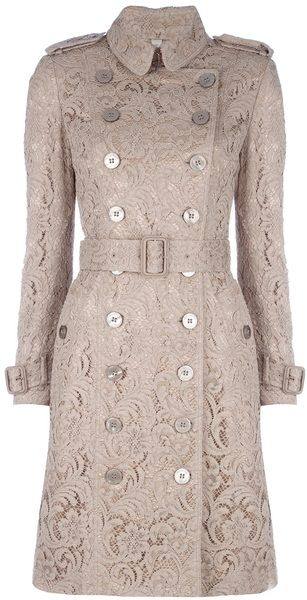 BURBERRYLace Trench Coat - Lyst dressmesweetiedarling