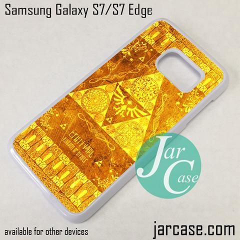 The Legend Of Zelda Gold Pattern Phone Case for Samsung Galaxy S7 & S7 Edge