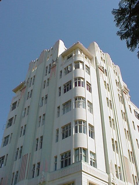 Art Deco | Surrey Mansions, 323 Currie Road, Durban, South Africa. Designed by Langton & Barbourne, 1934.