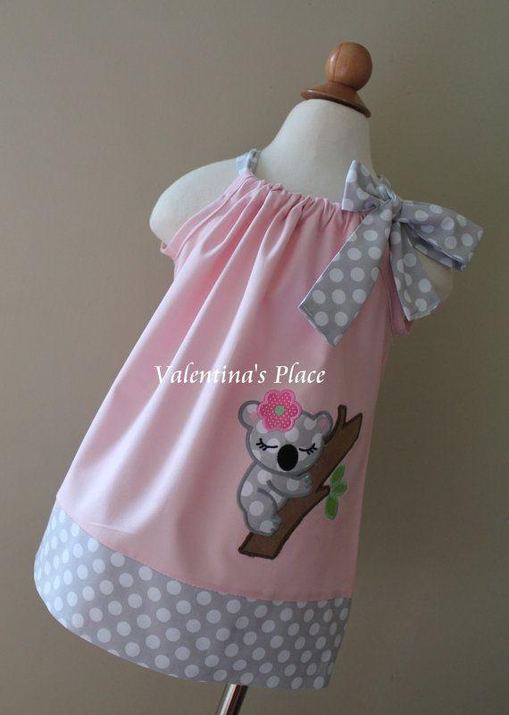 Super Cute Girl Koala pillowcase dress by Valentinasplace on Etsy, $30.00