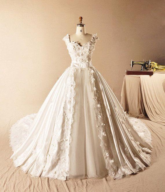 Wedding dress Pure handmade Bridal Ball gown