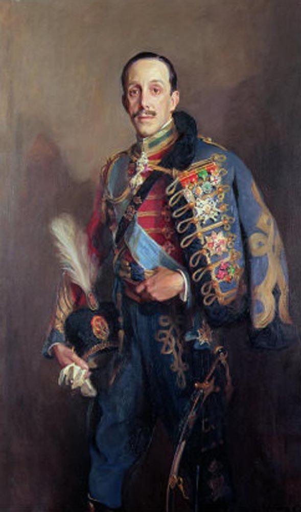 Alfonso XIII con uniforme de húsar (Museo Nacional Centro de Arte Reina Sofía).jpg