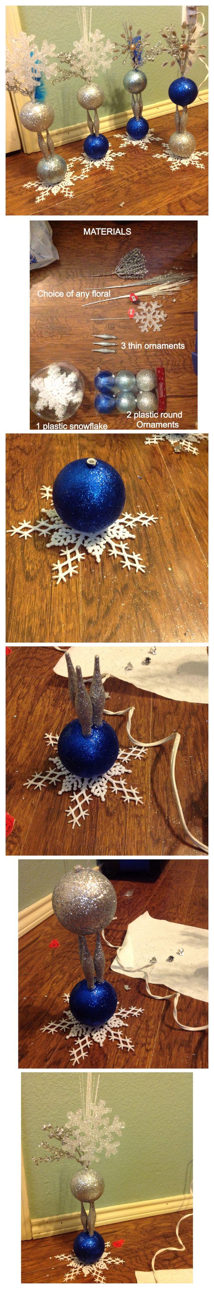 DIY cute winter wonderland centerpiece decoration
