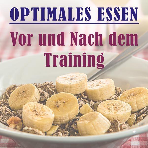 Optimales Essen vor und nach dem Training - fitkurs.de