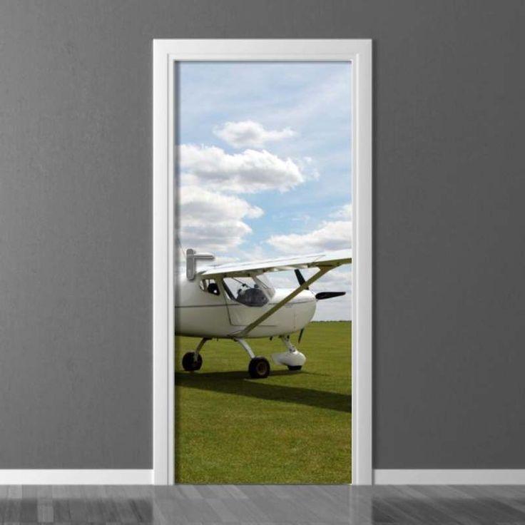 Fototapeta na drzwi Wally #wally #wallpaper #doors #airplane #sky #homedecor #homedecoration  #homeinspiration #doordecor #inspiration #decoration