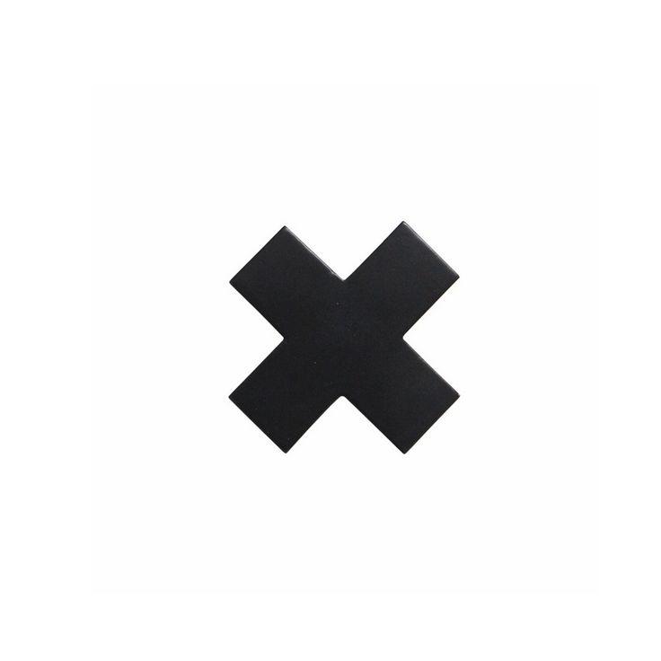 HKliving Wandhaak 6 cm - Zwart