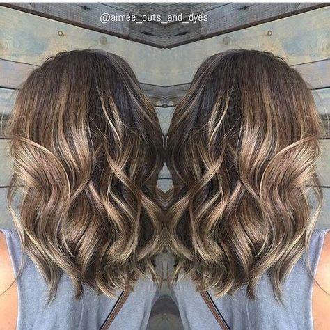 Balayage Medium Wavy Hairstyles - Lovely Medium Length Haircuts