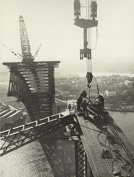 Building of the Sydney Harbour Bridge. Panel Point 7 Eastern Truss.