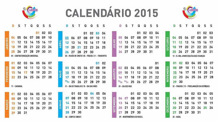 Dos nove dias de feriados nacionais definidos hoje (4), pelo Ministério do Planejamento para 2015, três serão em sextas-feiras, três em segundas-feiras, um na terça-feira e um em um domingo