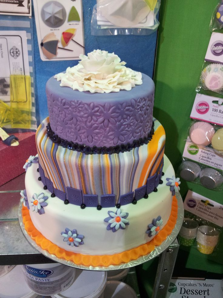 Satin Ice Cake made for a trade show