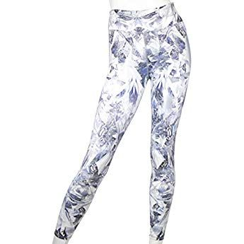 c1e65c935b EVCR Women's Crystallized 7/8 Legging Soft Non See-Through Everyday Yoga  Leggings (XS)