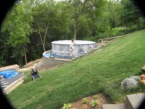 above ground pool ideas on Pinterest  Decks, Backyards and Ground