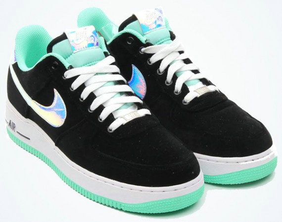 watch 0b88b e6a13 Nike Air Force 1 Low Black Green Glow 488298 080