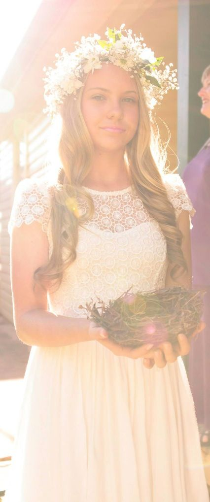 My beautiful baby sister was my only bridesmaid. She carried our rings down in this birds nest we found on one of our walks together.