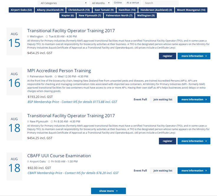 Arlo Event List https://www.cbaff.org.nz/
