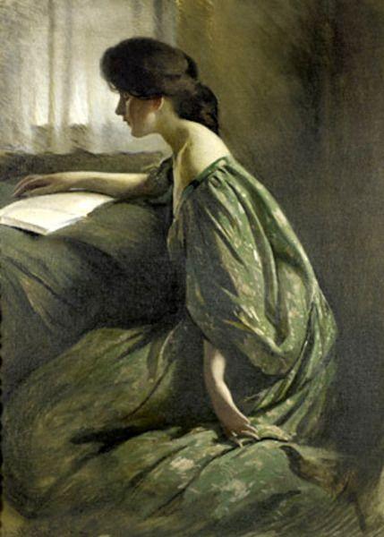 "John White Alexander (1856-1915) - ""A Quiet Hour"""