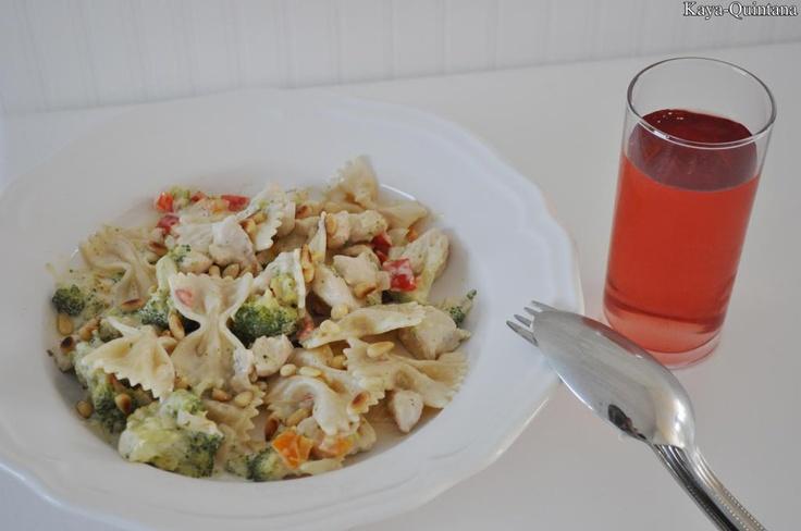 pasta met witte saus