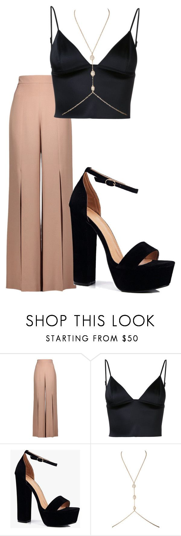 """""""BrEEZy"""" by yana-frendo on Polyvore featuring Cushnie Et Ochs, T By Alexander Wang and Boohoo"""
