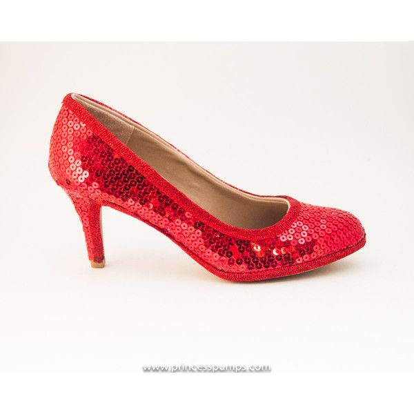 Simple Red Sequin 3 Inch High Heels Shoes by Princess Pumps ($100) ❤ liked on Polyvore featuring shoes, pumps, light pink, women's shoes, red shoes, high heeled footwear, sequin pumps, red rhinestone pumps and sparkly pumps