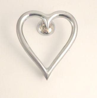 Heart door knocker chrome our house pinterest for Door knockers uk