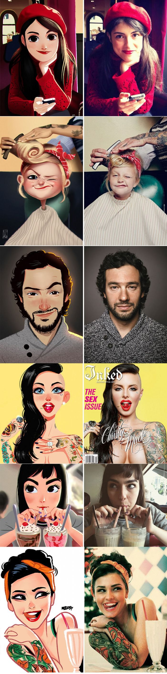 This artist could turn you into comic (Julio Cesar)