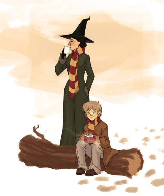 After a full moon, McGonagall would always be waiting for Remus with warm clothes and a Hot Chocolate and no one can tell me otherwise.