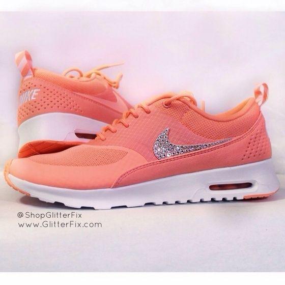 Glitterfix Bling Women's Nike Air Max Thea shoes addiction for cheap $49 #cheap #nike #free