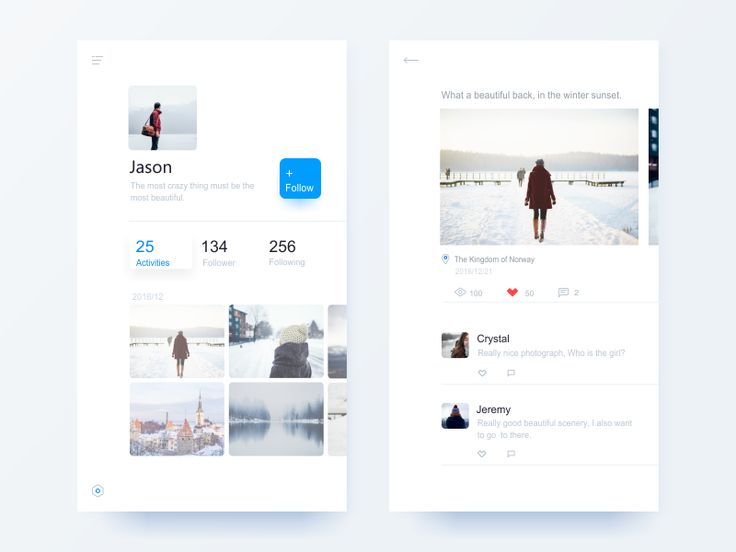 Social App Ui Design by Jian #Design Popular #Dribbble #shots