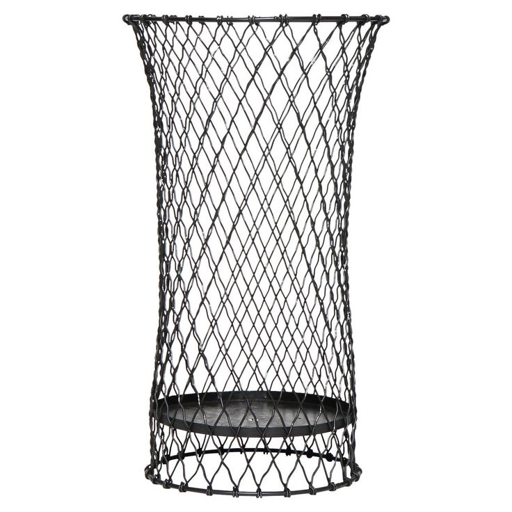 Industrial Wire Waste Basket | From a unique collection of antique and modern bowls and baskets at https://www.1stdibs.com/furniture/decorative-objects/bowls-baskets/