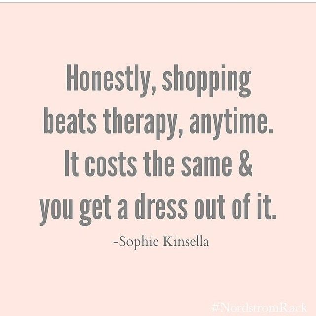 shopping beats therapy