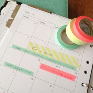 Great and pretty way organize your calendar