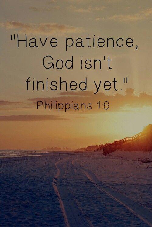 God isn't finished