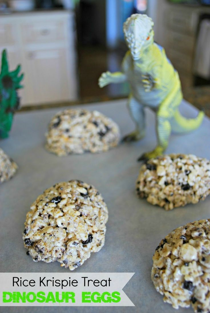 Dinosaur Egg Rice Krispie Treats - These are a fun addition to a dinosaur study or for any day.