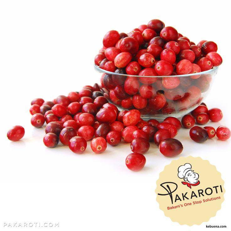 Manisan Cranberry merupakan Buah Cranberry yang dikeringkan, rasanya manis asam. Manisan buah Cranberry bisa jadi makanan sehat dan topping untuk varian fruit cake #BakersPedia
