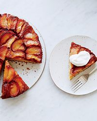 Plum Upside-Down Cake // This pretty cake from pastry chef Joanne Chang is moist and buttery, with plenty of sweet and tangy caramelized plums on top.