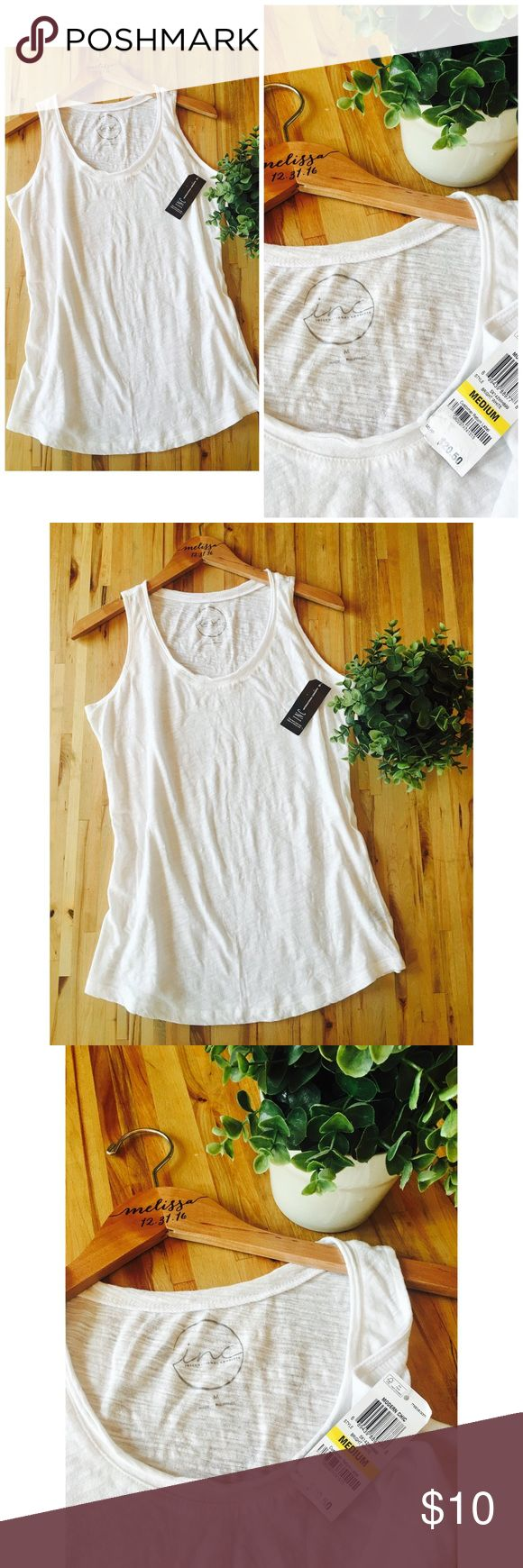 Macy's INC Basic Tank!✨ Super soft!!! Lightweight, basic white tank by Macy's INC! A summer must have! INC International Concepts Tops Tank Tops