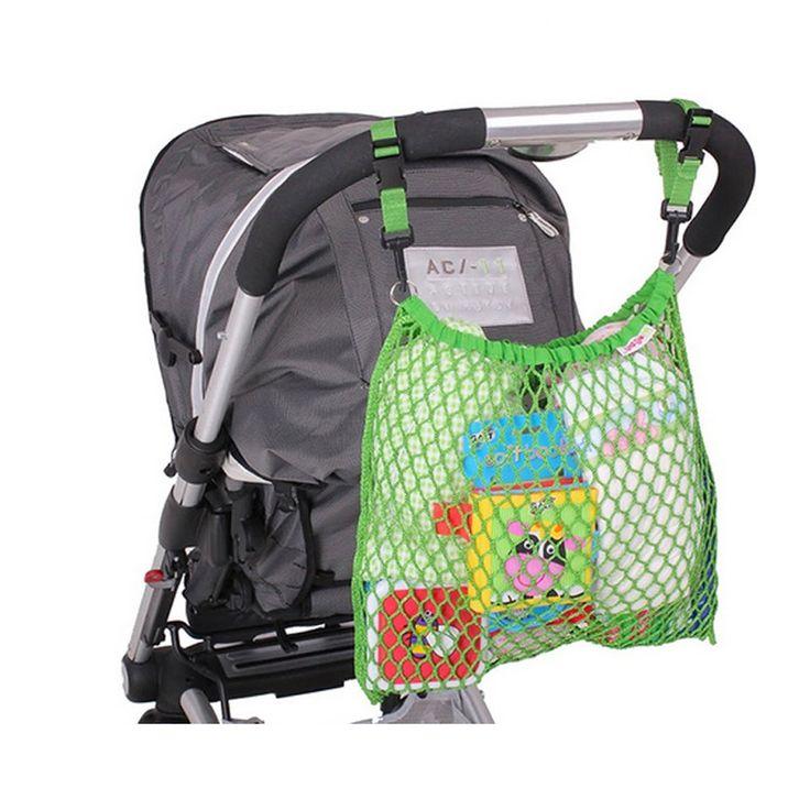 Villa-Sternenstaub   Kinderwagennetz grün   - Material: 100% Nylon - Maße: 30 x 30 cm - sehr robust und langlebig - äußerst praktisch und zaubert einen stilvollen Farbklecks auf Ihren Kinderwagen - Handwäsche