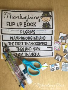 Thanksgiving Flip Up Book that is perfect for teaching about the first thanksgiving. Also great for comparing they first thanksgiving to our current thanksgiving.