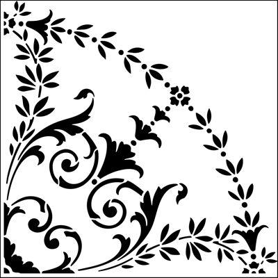 Quadrant No 2 stencil from The Stencil Library online catalogue. Buy stencils online. Stencil code ER50a.