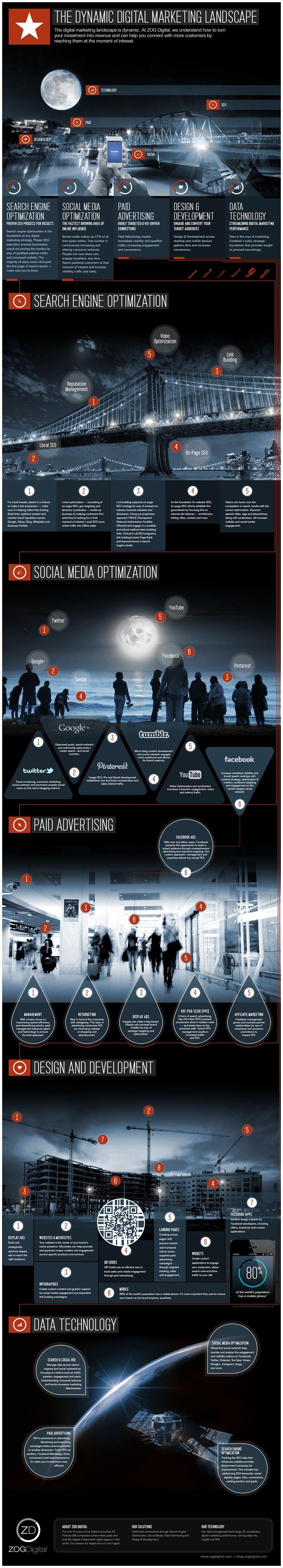 The Dynamic Digital Marketing Landscape Infographic