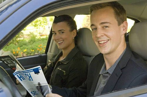 NCIS Behind the scenes. Cote de Pablo and Sean Murray