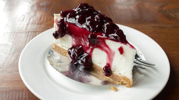 Klassisk amerikansk blåbær cheesecake