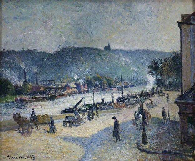 Quays at Rouen by Camille Pissarro The Courtauld Gallery