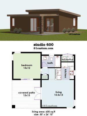 Backyard Guest House Floor Plans