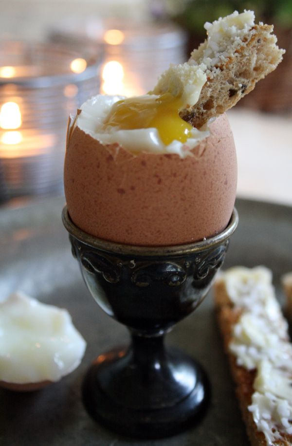 Soft boiled egg and mouillettes