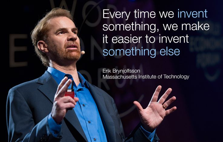 """""""Every time we invent something, we make it easier to invent something else."""" - Erik Brynjolfsson, Massachusetts Institute of Technology #AMNC2014"""